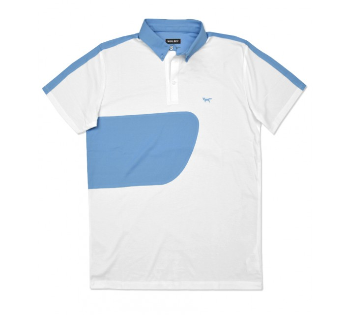 WOLSEY PABLO COLOR BLOCK POLO WHITE - SS16