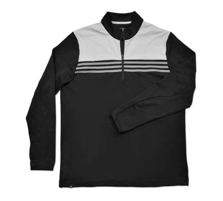 ADIDAS COLORBLOCK 1/4 ZIP LAYERING TOP BLACK - SS16
