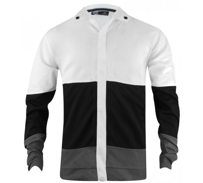 HOLLAS COLOR BLOCK JACKET WHITE/BLACK/CASTLEROCK - SS15