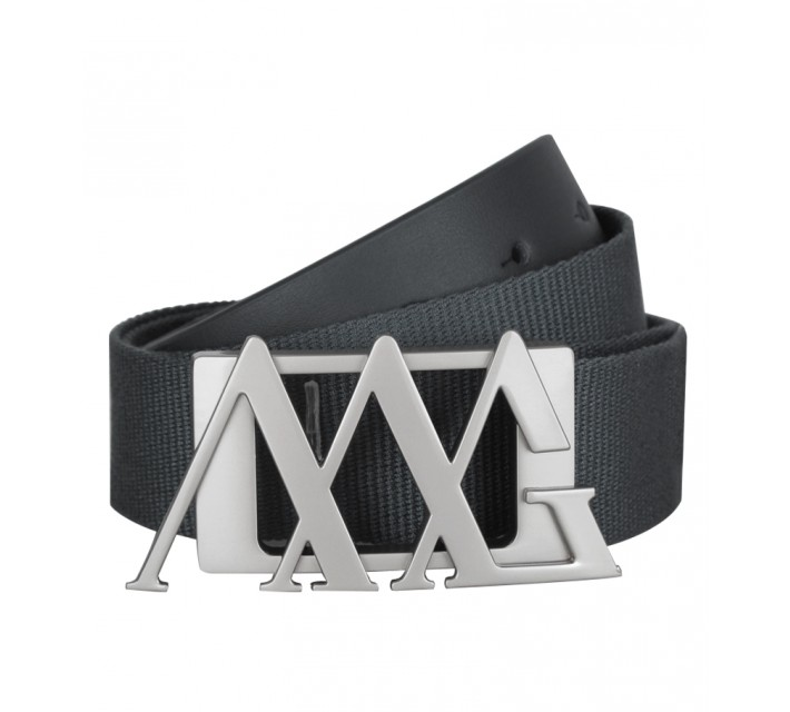 MATTE GREY COMMANDER BELT BRUSHED NICKLE/MEDIUM GREY- CORE