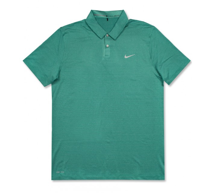 TIGER WOODS CONTROL STRIPE POLO RIO TEAL - AW16