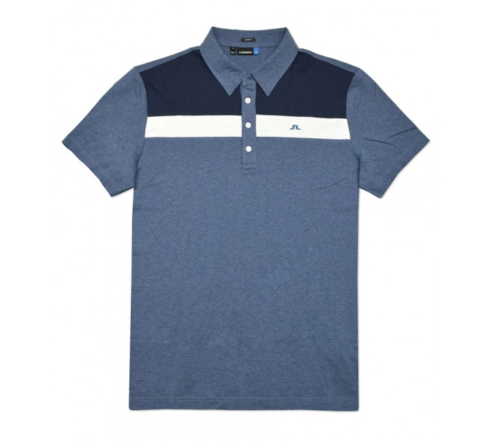 J. LINDEBERG CORY LUX JERSEY POLO DARK NAVY MELANGE - SS16