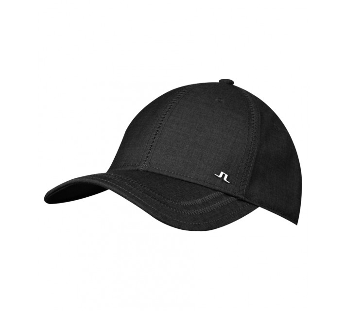 J. LINDEBERG WILL COMBED COTTON CAP BLACK - AW15