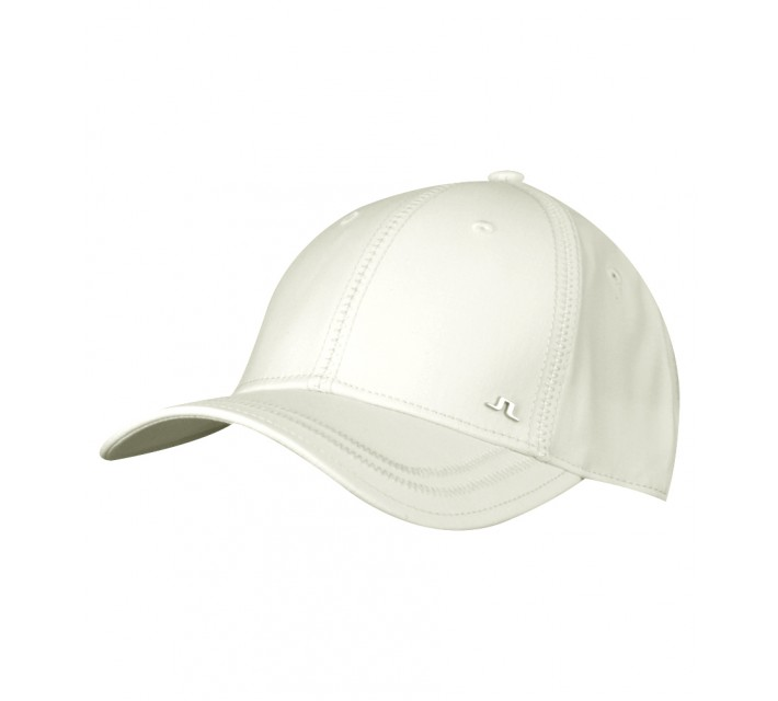 J. LINDEBERG WILL COMBED COTTON CAP WHITE - AW15