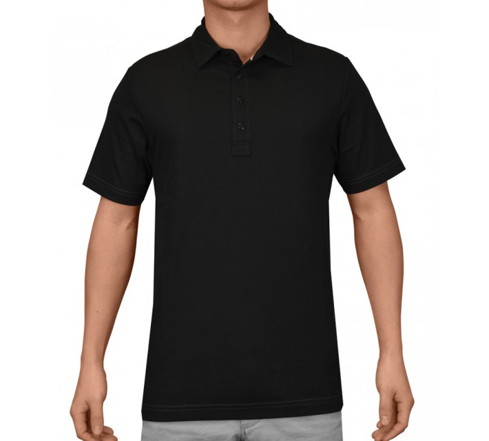 TRAVISMATHEW GOLF SHIRT CRENSHAW BLACK - AW16