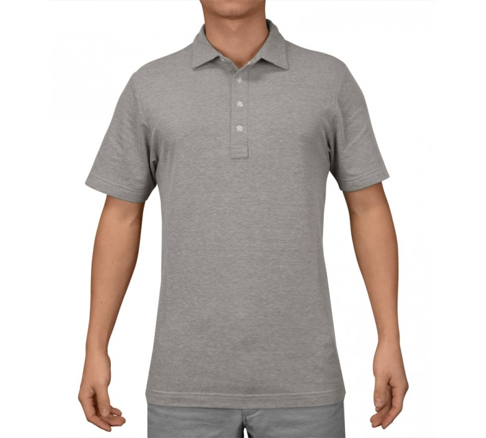 TRAVISMATHEW GOLF SHIRT CRENSHAW HEATHER GREY - AW16