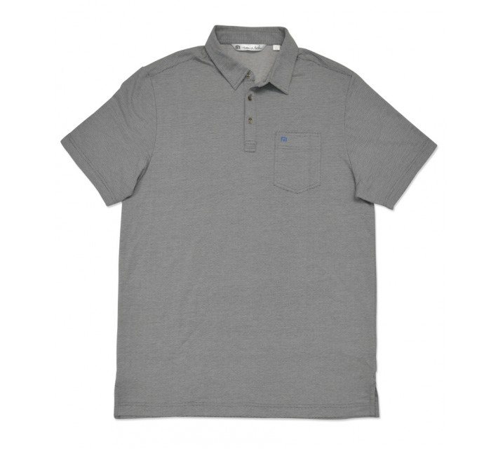 TRAVISMATHEW CREST GOLF SHIRT HEATHER CASTLEROCK - SS16