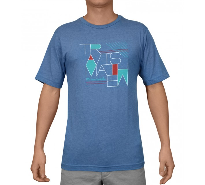 TRAVISMATHEW T-SHIRT CROOKS HEATHER BLUE - SS15