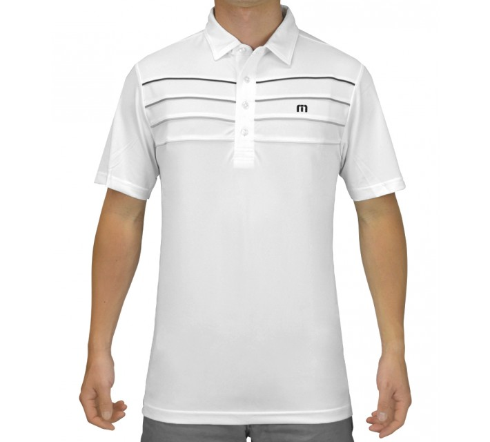 TRAVISMATHEW GOLF SHIRT CUNNINGHAM WHITE - SS15