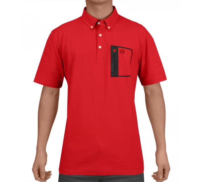 AG GREEN LABEL THE CUP POLO VICTORY RED - SS15