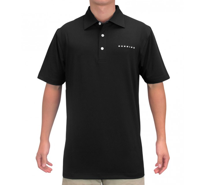 DUNNING INTERFACE STRETCH TOUR LOGO POLO BLACK - AW15