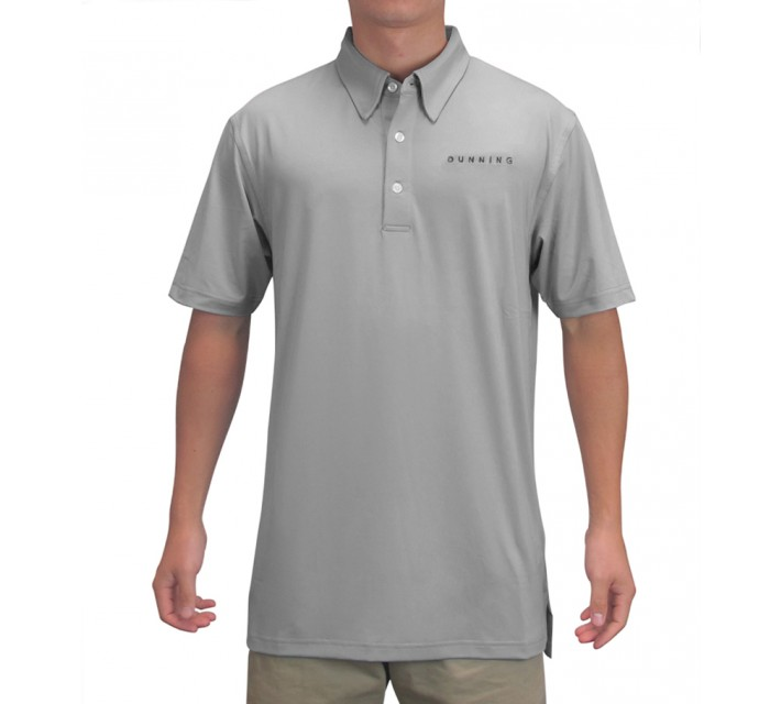 DUNNING INTERFACE STRETCH TOUR LOGO POLO GREY - AW15