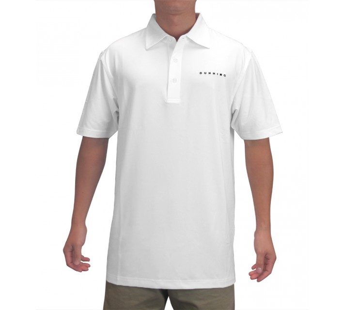 DUNNING INTERFACE STRETCH TOUR LOGO POLO WHITE - AW15