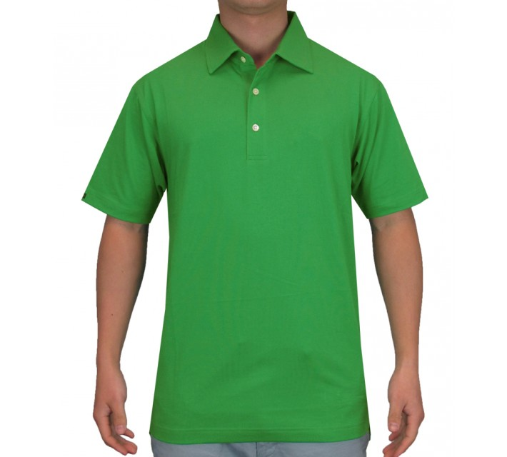 DUNNING HERITAGE PERFORMANCE COTTON POLO GREEN - SS15