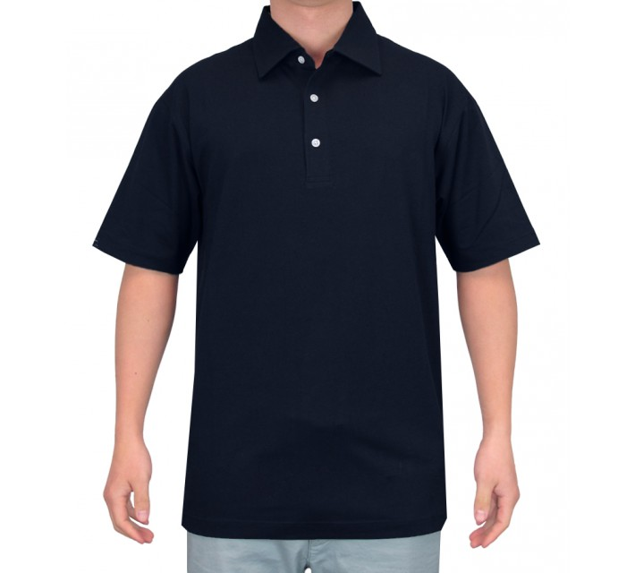 DUNNING HERITAGE PERFORMANCE COTTON POLO WINDSOR BLUE - SS15