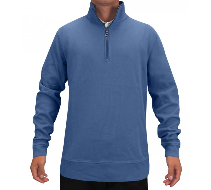 DUNNING HERITAGE COLLECTION PIMA COTTON PULLOVER SURF BLUE - SS15
