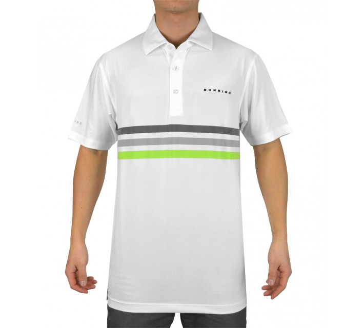 DUNNING TRIPLE CHEST STRIPE YD JERSEY POLO WHITE COMBO - SS15