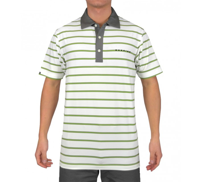 DUNNING STRIPE YD JERSEY POLO WHITE COMBO - SS15