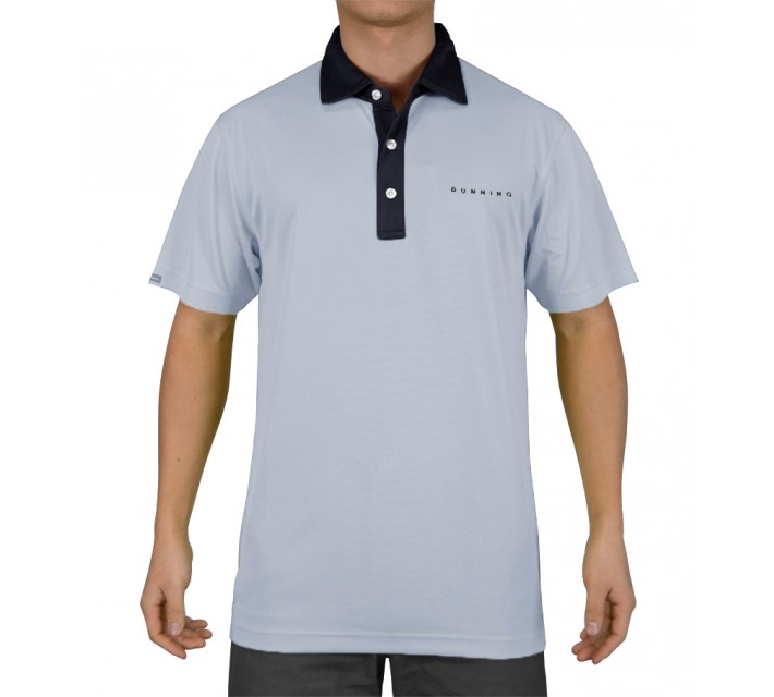 DUNNING SOLID MESH POLO DUSK - SS15