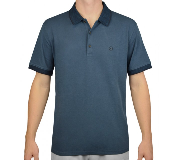 AG GREEN LABEL THE DELANCY POLO POINT CONCEPTION BLUE - AW15