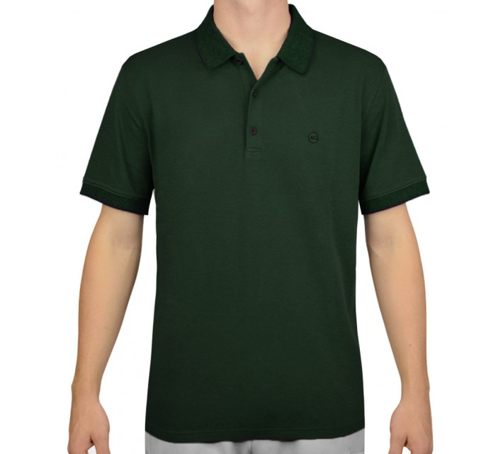 AG GREEN LABEL THE DELANCY POLO SCOTS PINE - AW15