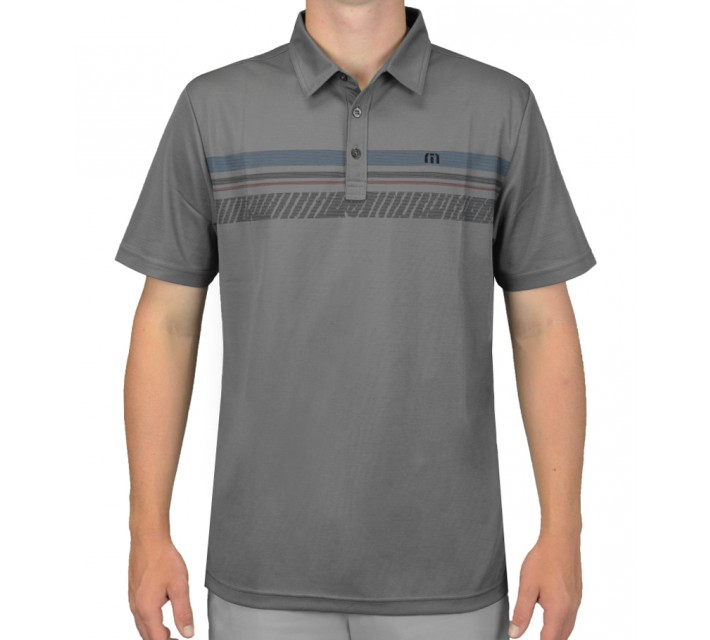 TRAVISMATHEW GOLF SHIRT DENUM GREY - AW15
