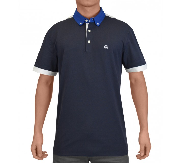 AG GREEN LABEL THE DUECE POLO NAVAL BLUE - SS15
