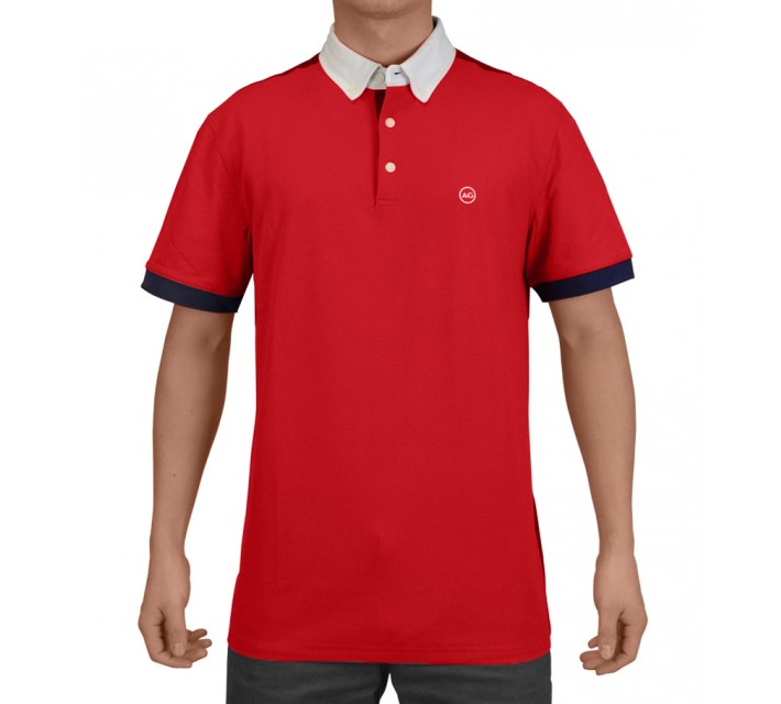 AG GREEN LABEL THE DUECE POLO VICTORY RED - SS15