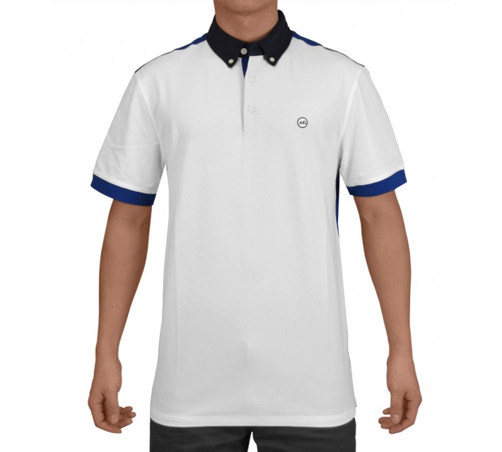 AG GREEN LABEL THE DUECE POLO BRIGHT WHITE - SS15