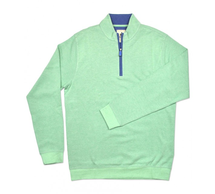 JOHNNIE-O DEVON 1/4 ZIP PULLOVER BRIGHT MINT - SS16