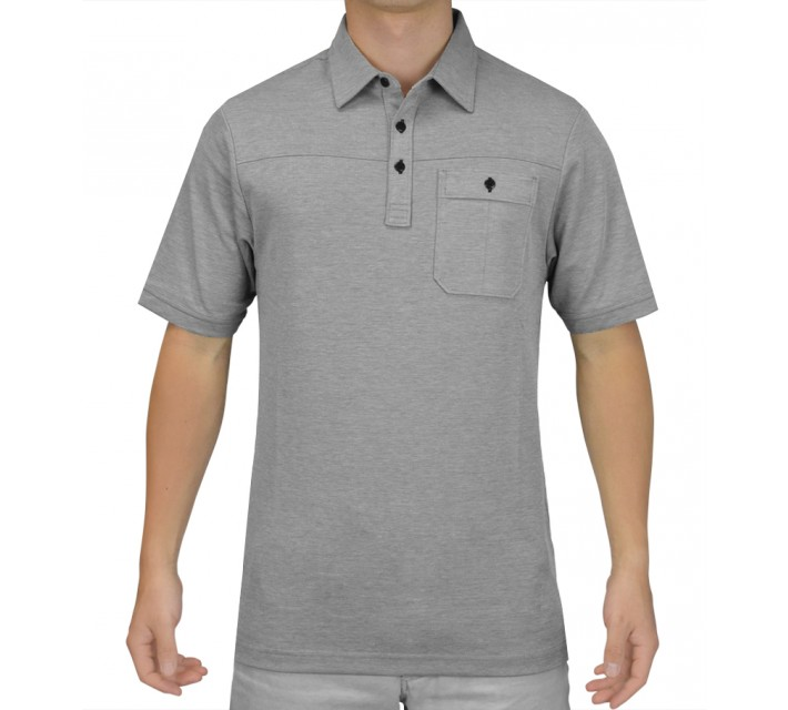 TRAVISMATHEW GOLF SHIRT DREBIN GREY  - SS15