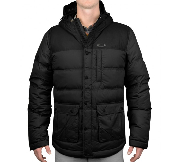 OAKLEY DRIFTER DOWN JACKET JET BLACK - AW15
