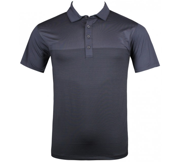 MATTE GREY DROP STRIPE POLO GRAPE SLATE - SU13