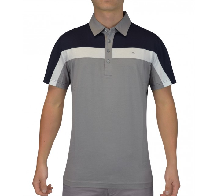 J. LINDEBERG CHRISS SLIM LUX BRIDGE JERSEY NAVY PURPLE - SS15