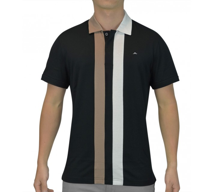 J. LINDEBERG CLINT SLIM LUX JERSEY BLACK - SS15