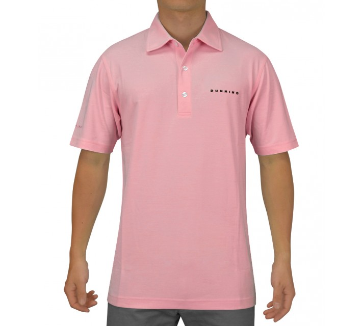 DUNNING STRETCH HEATHER PIQUE POLO BLOOM - SS15
