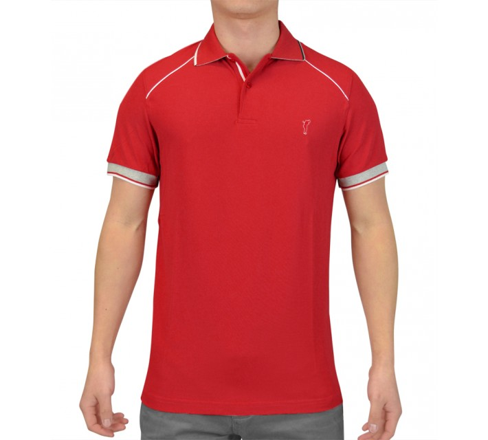 GOLFINO EXTRA DRY BREATHABLE PIQUE POLO IMPERIAL RED - SS15