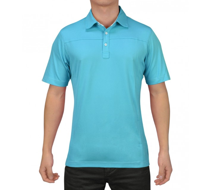 HOLLAS COATES GOLF SHIRT AQUARIUS - SS15