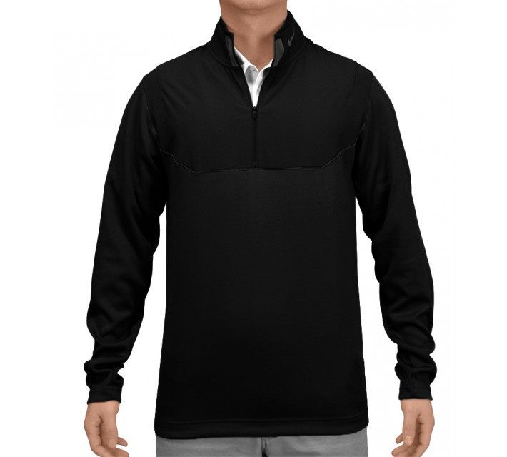 NIKE DRI-FIT 1/2 ZIP TOP BLACK - AW15 CLOSEOUT