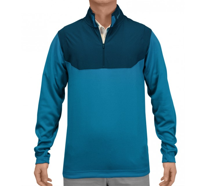 NIKE DRI-FIT 1/2 ZIP TOP LT BLUE LACQUER - SS15 CLOSEOUT