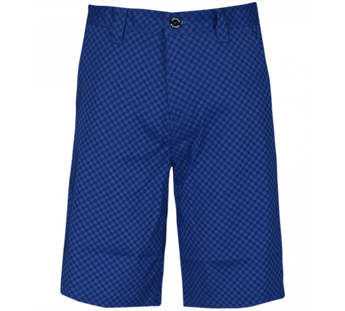 HOLLAS TONAL GINGHAM SHORT ROYAL BLUE – SS15