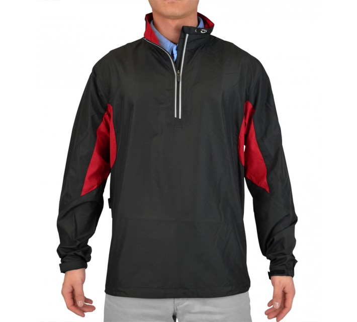 ABACUS GLADE WIND ANORAK JACKET BLACK/RED - SS15
