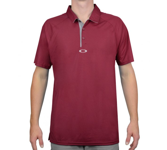 OAKLEY ELEMENTAL 2.0 GOLF POLO NEW CRIMSON- AW15