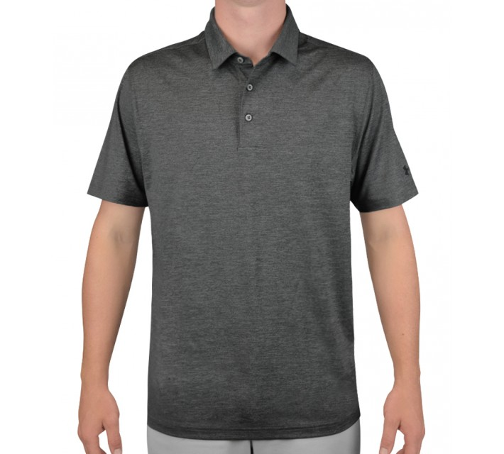 UNDER ARMOUR ELEVATED HEATHER GOLF POLO CARBON - AW16