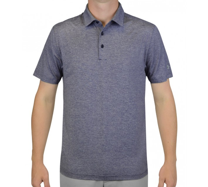 UNDER ARMOUR ELEVATED HEATHER GOLF POLO MIDNIGHT NAVY - AW16