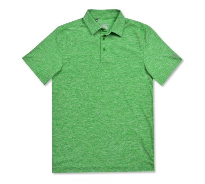 UNDER ARMOUR ELEVATED HEATHER POLO PUTTING GREEN - AW16