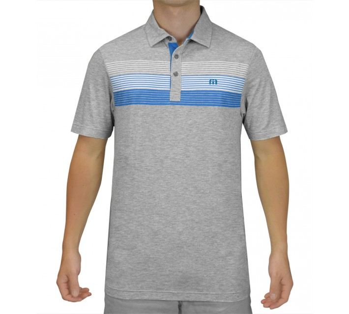 TRAVISMATHEW GOLF SHIRT THE ELEVATOR HEATHER GREY - SS15