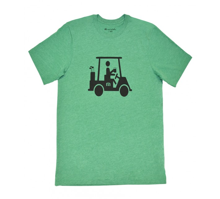 TRAVISMATHEW MAPES T-SHIRT HEATHER GREEN - SS16