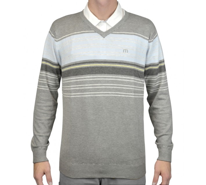 TRAVISMATHEW ETHAN SWEATER HEATHER GRIFFIN - AW15