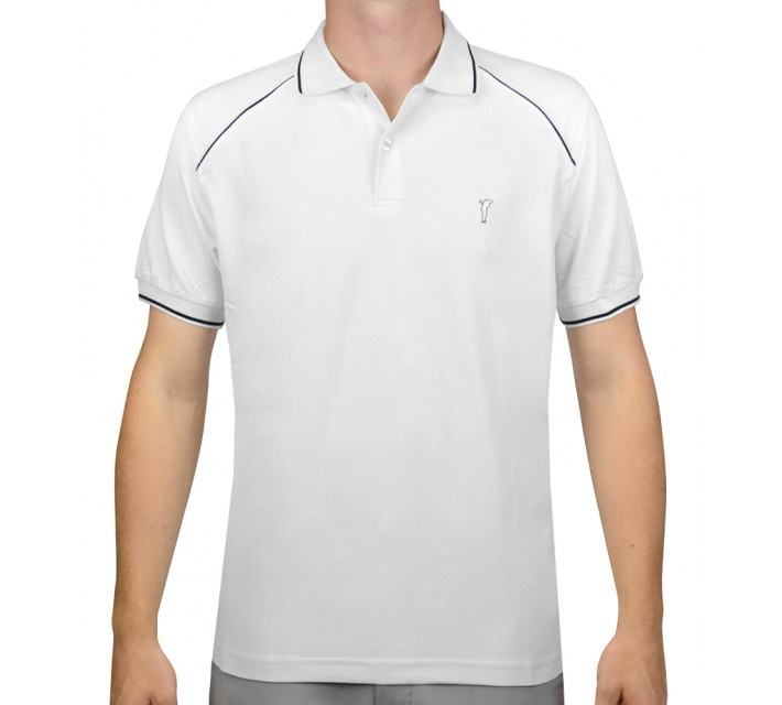 GOLFINO EXTRA DRY/BREATHABLE PIQUE POLO OPTIC WHITE - AW15